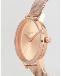 Nixon - Metallic A1229 Kensington Milanese Mesh Watch In Rose Gold - Lyst