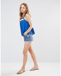 Piper - Blue Bacoor Tassel Trapeze Top - Lyst