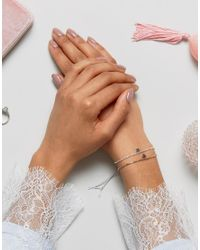 Estella Bartlett - Metallic Estella Bartlet Silver Plated Heart Bracelet Duo Set - Lyst