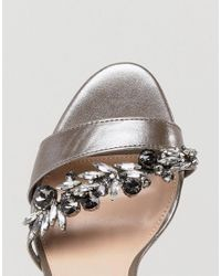 Carvela Kurt Geiger - Pink Barely There Jewelled Heeled Sandal - Lyst