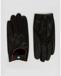 Barney's Originals - Black Gants de conduite for Men - Lyst