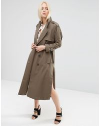 ASOS | Pea Coat In Oversized Fit - Green | Lyst