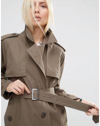 ASOS | Green Pea Coat In Oversized Fit | Lyst
