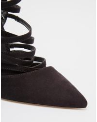 ASOS - Black Power Caged Pointed Heels - Lyst