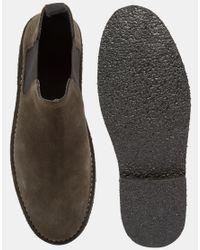 ASOS - Brown Chelsea Desert Boots In Grey Suede for Men - Lyst