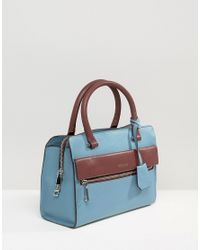 Modalu - Leather Mini Tote Bag - Airforce Blue - Lyst