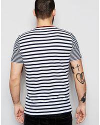Only & Sons - Black Stripe T-shirt - White for Men - Lyst