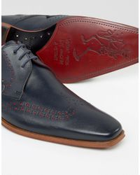 Jeffery West - Blue Scarface Leather Derby Brogues - Navy for Men - Lyst