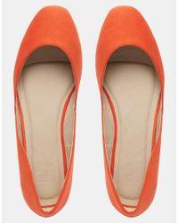 ASOS - Orange Leonie Square Ballet Flats - Lyst
