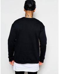 Underated - Black Oversized Sweatshirt With Box Logo for Men - Lyst