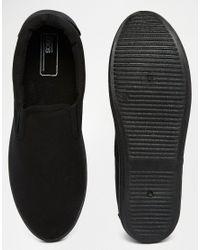 ASOS - Slip On Sneakers In Black for Men - Lyst