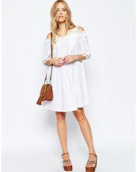 ASOS - Multicolor Embroidered Off Shoulder Sundress - Lyst