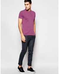 BOSS Orange - Purple Polo Shirt With Logo In Slim Fit for Men - Lyst