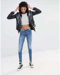 Noisy May Tall - Blue Even Slim Waistband Jeans - Lyst