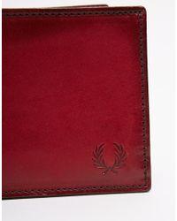 Stussy - Red Geometric Leather Billfold Wallet for Men - Lyst
