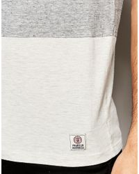 Franklin & Marshall - Gray Franklin And Marshall T-shirt With Colour Block for Men - Lyst
