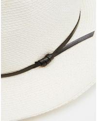 Catarzi - White Fedora Wide Brim Straw Hat for Men - Lyst