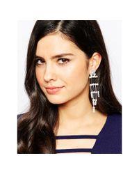 Krystal - White Swarovski Ladder Shoulder Duster Earrings - Lyst