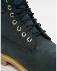 Timberland | Blue Icon 6 Inch Leather Premium Boots for Men | Lyst