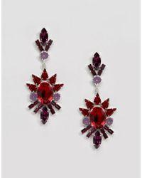 Krystal - Red Swarovski Articulated Spike Earrings - Lyst