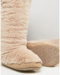 Bedroom Athletics Natural Grace Knee Length Slipper Boot