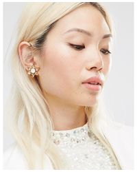 Krystal - Metallic Swarovski Crystal Star Burst Earrings - Topa/whiteopal Mix - Lyst