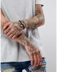 Icon Brand - Pebble Cord Bracelet In Black for Men - Lyst