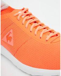Le Coq Sportif - Wendon Levity Neon Orange Trainers - Lyst
