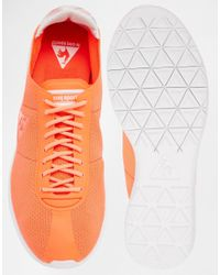 Le Coq Sportif - Wendon Levity Neon Orange Trainers - Lyst