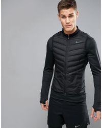 728b45c47378 Nike Aeroloft Down-filled Padded Vest In Black 800497-010 in Black ...