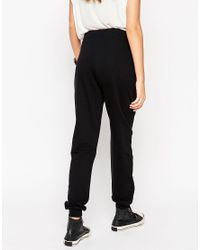ASOS - Black Basic Joggers With Contrast Tie - Lyst