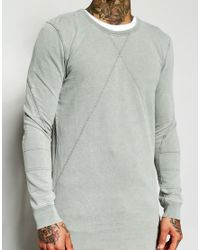 Black Kaviar - Gray Longline Sweatshirt - Lyst