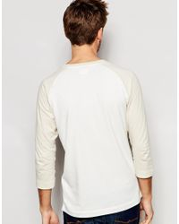 SELECTED - White Contrast Raglan Long Sleeve Top for Men - Lyst