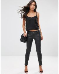 ASOS - Black Cropped Woven Cami Top 2 Pack Save 20% - Lyst