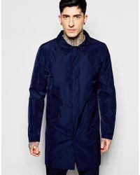 Lindbergh - Blue Trench Coat In Nylon for Men - Lyst