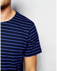 SELECTED | Blue Elected Homme Stripe T-shirt for Men | Lyst