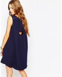 Suncoo - Embroidered Dress In Blue - Lyst