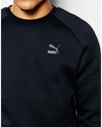 PUMA - Black Evolution Sweatshirt With Back Print for Men - Lyst