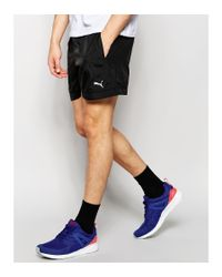 PUMA - Black Woven Shorts for Men - Lyst