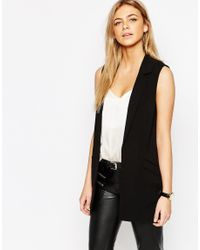 Oasis | Black Sleeveless Jacket | Lyst