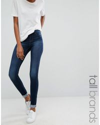Noisy May Tall | Blue Extreme Lucy Super Skinny Jean | Lyst