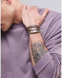 ASOS - Metallic Embellished Bangle Pack In Burnished Finish for Men - Lyst