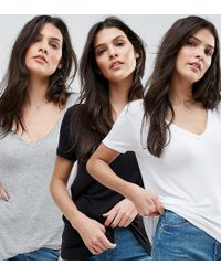 ASOS - Multicolor The New Forever T-shirt With Short Sleeves And Dip Back 3 Pack Save 15% - Lyst