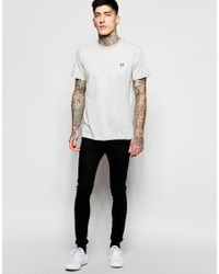 Stussy - Gray T-shirt With Polka Dot Print for Men - Lyst
