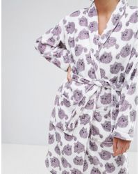 Monki | Multicolor Fluffy Cat Robe | Lyst