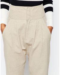 ASOS - White Linen Harem Trousers - Lyst