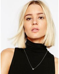 Cheap Monday - Metallic Exclusive Rose Gold Mini Skull Necklace - Lyst