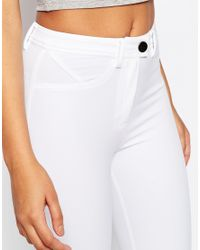 ASOS - Stretch Skinny Pants In Ultimate Fit - White - Lyst