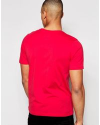 Jack & Jones - Black T-shirt With Chest Logo Print - Red for Men - Lyst