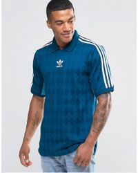 Adidas Originals | Blue T-shirt Jersey In Vintage Style Aj7865 for Men | Lyst
